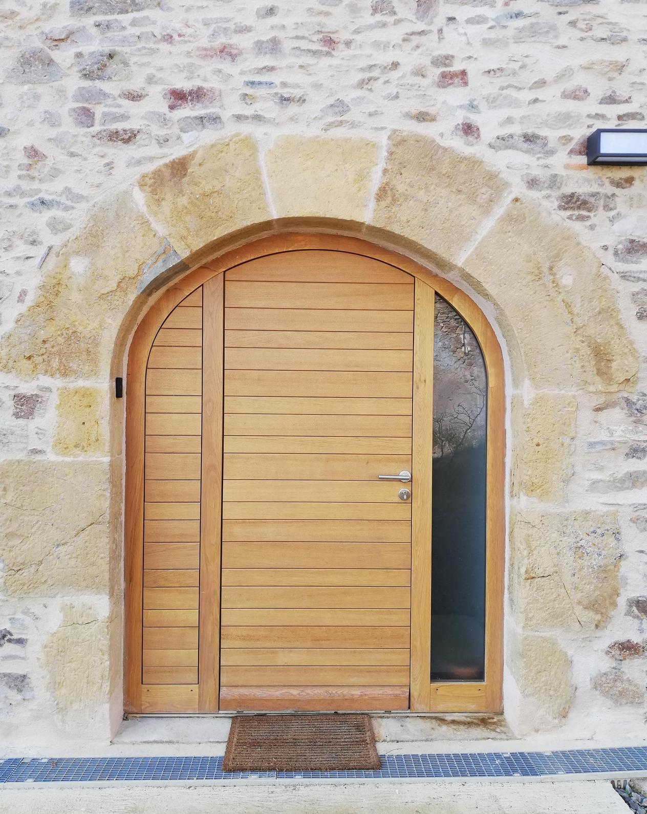 Porte d'entrée Causse en chêne (1)